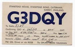 STANSTEAD HOUSE CATERHAM SURREY ENGLAND  - CB RADIO - Radioamatore - Radioamateur - QSL - Short Wave - Carte QSL