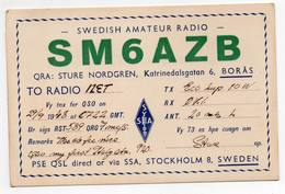 SWEDEN STOCKHOLM - BORAS - MOTALA - CB RADIO - Radioamatore - Radioamateur - QSL - Short Wave - Carte QSL