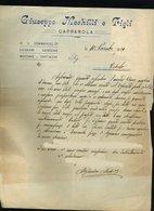 SP66 CAPRAROLA LETTERA INTESTATA GIUSEPPE MECHILLI E FIGLI COMMERCIO NOCCHIE LEGNAMI CASTAGNE CARBONE 1920 - Italy
