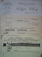 Lessines - Lot De 7 Factures (carrières-commerces-imprimerie) - Belgique