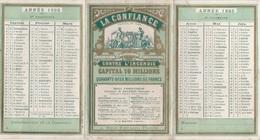 - Très Beau Calendrier De 1893 Avec PUB ASSURANCE LA CONFIANCE Paris - Calendari