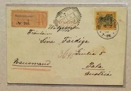 Cartolina Postale Illustrata Raccomandata Neufahrwasser-Pola - 18/07/1902 - Allemagne
