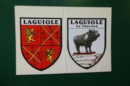 Q 5 ) BLASON ADHESIF LAGUIOLE ET LAGUIOLE LE TAUREAU - Laguiole