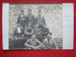 "TURQUIE - CARTE PHOTO - MARINS DU BÂTEAU "" SAMSUN "" - CARTE ENVOYEE DE TOULON LE 27 OCTOBRE 1910 -   "" TRES RARE "" - - Turquie"