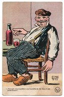 ILLUSTRATEUR GRIFF * CASQUETTE * IVROGNE * BOUTEILLE VIN * SABOTS * DESSIN *  Brocherioux, Paris * Série 172 - Griff