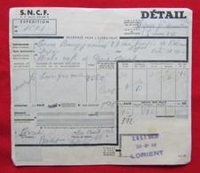 SNCF Récépissé D'envoi De Colis Ancien ( 1948 ) - Autres