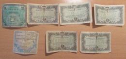 France - 6 Billets Chambres De Commerce Mâcon, Bourg Et Lyon (1917 à 1921) + Un Billet 2 Francs 1944 Drapeau Série 2 - Chambre De Commerce