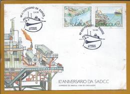 Cabinda Gulf Oil Rig. Ölbohrinsel Cabinda Gulf. Oil Tanker. Exploration Of Oil In Sea. Öltanker. Ölförderung Im Meer Dam - Petróleo