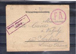 Carte-lettre De Prisonnier De Guerre. Eichstätt 1918 - Guerra De 1914-18