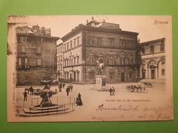 Cartolina - Firenze - Piazza Della SS Annunziata - 1900 Ca. - Firenze (Florence)