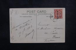 CHINE - Affranchissement Plaisant Sur Carte Postale En 1913  Pour Hanoï - L 51679 - China