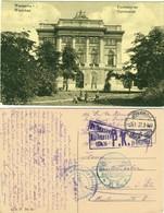 WARSCHAU 1917 Warszawa Uniwersytet Deco FELDPOST O Jablonna + 3x Zensur > Mulhouse Alsace - Poland