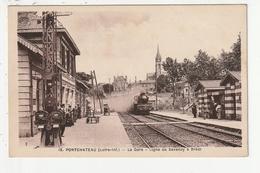 PONTCHATEAU - LA GARE - LIGNE DE SAVENAY A BREST - 44 - Pontchâteau
