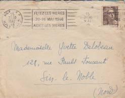 """Nice 1946  - Flamme  """"fêtez Les Mères  / 20 26 Mai 1946/ Aidez Les Mères - Storia Postale"""