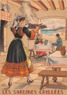 Illustrateur Jean PARIS - M. Barré & J. Dayez - Recette - Les Sardines Grillées - N° 1417 D - Andere Illustrators