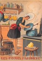 Illustrateur Jean PARIS - M. Barré & J. Dayez - Recette - Les Moules Marinières - N° 1417 F - Andere Illustrators