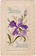 Brodée : Bonne Année : Fleurs Iris - Ricamate