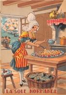 Illustrateur Jean PARIS - M. Barré & J. Dayez - Recette - La Sole Normande - N° 1417 E - Andere Illustrators