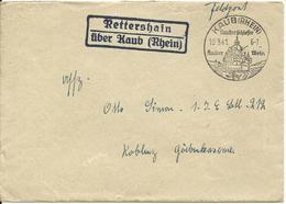 DR 1941, Landpost Stpl. Rettershain über Kaub (Rhein) Auf Feldpost Brief - Wein & Alkohol
