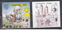Au Plus Rapide Bourgogne Lorraine 1987-1988 Uderzo Illustrateur Excellent état 2 Blocs - CNEP