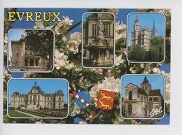 Evreux Multivues : Théâtre Fontaine Place De Gaulle Cathédrale Bords Iton Hotel De Ville église Saint Taurin - Evreux