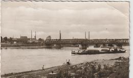 Allemagne :  Kehl  Am  Rhein , Rheinbrücken  Grenze  Frankreich ,   Péniche  Waal - Germany