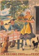 Illustrateur Jean PARIS - M. Barré & J. Dayez - Recette -  Les Goujons Frits De La Meuse - N° 1417 P - Andere Illustrators