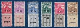"Tunisie Taxe YT 54 à 58 + 56A "" Taxe Douane "" 1941-44 Neuf* - Timbres-taxe"