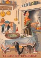 Illustrateur Jean PARIS - M. Barré & J. Dayez - Recette - La Barbue Béarnaise - N° 1417 Q - Andere Illustrators