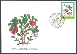 Latvia - Berries - Wealth Of Latvian Forests, FDC, 2007 - Obst & Früchte