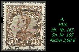 1893 - Mi. Nr. 163 - 1892-1898 : D.Carlos I