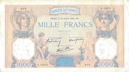 J26 - Billet 1000 Francs - Type Ceres Et Mercure - 1940 - 1 000 F 1927-1940 ''Cérès Et Mercure''