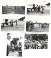 Katanga (Congo) 1961 Soldats Armée Belge (?)  Arrivée Du Président Tshombé Lot De 6 Photos 10x7 - Guerre, Militaire