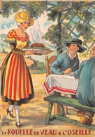 Illustrateur Jean PARIS - M. Barré & J. Dayez - Recette - La Rouelle De Veau à L'oseille - N° 1418 G - Andere Illustrators