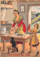 Illustrateur Jean PARIS - M. Barré & J. Dayez - Recette - Le Coq Au Vin - N° 1418 Q - Andere Illustrators