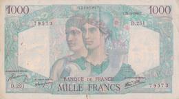 J26 - Billet 1000 Francs - Type Minerve Et Hercule - 1946 - 1871-1952 Antichi Franchi Circolanti Nel XX Secolo