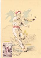 FRANCE PELOTE BASQUE1956 MAXIMUM  POST CARD  (GENN201402) - Giochi