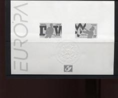 Belgie 1998 Europa CEPT 2757/58 Music Werchter Festival Guitar Zwart-wit Velletje OCB15€ - Foglietti Bianchi & Neri