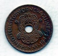 NEW GUINEA, 1 Penny, Bronze, Year 1944, KM #7 - Guinea