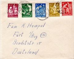 Netherlands Set On Used Cover - Childhood & Youth