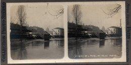 Photo Stéréoscopique - PARIS - Inondations 1910 - Quai De L' Hotel De Ville - - Photos Stéréoscopiques