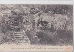 Carte Vers 1915 DIXMONT / TRANCHEE DE 25 M OU ON TROUVE  UNE FORTE COUCHE DE LIGNITE (mine,carrière) - Dixmont