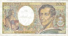 J26 - Billet 200 Francs - Type Montesquieu - 1992 - 200 F 1981-1994 ''Montesquieu''