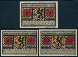 NOTGELD / NEUSTETTIN / SZCZECINEK  -   1921 , 3 Notgeldscheine  -  Ungebraucht - Lokale Ausgaben