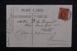 HONG KONG - Affranchissement Plaisant De Hong Kong Sur Carte Postale En 1905 Pour La France + Cachet Maritime - L 51699 - Hong Kong (...-1997)