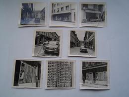 8 X PHOTOGRAPHIE Ancienne : ALBERTVILLE / COMMERCES PHOTOGRAPHE - CREMERIE - TISSUS / RENAULT 8 / 2 CV / SAVOIE 1970 - Orte