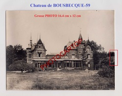 BOUSBECQUE-Chateau-Grosse PHOTO Allemande-Guerre14-18-1 WK-Militaria-Frankreich-France-59- - France