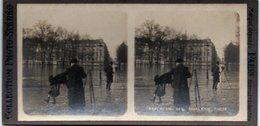 Photo Stéréoscopique - PARIS - Inondations 1910 - Esplanade Des INVALIDES - - Photos Stéréoscopiques