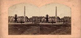 Photo Stéréoscopique - PARIS - Monument - OBELISQUE - - Photos Stéréoscopiques