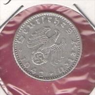 DUITSLAND THIRD REICH 50 REICHSPFENNIG 1942A RUNEN ZEICHEN - 50 Reichspfennig